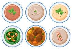 комплект еды здоровый иллюстрация вектора