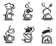 комплект еды иконы иллюстрация вектора
