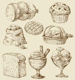 комплект еды бесплатная иллюстрация