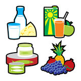 комплект еды Стоковые Изображения RF