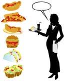 комплект еды Стоковое Изображение RF