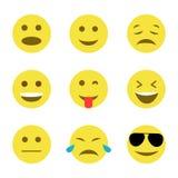 Комплект желтой улыбки на белизне Стоковые Изображения RF