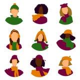 Комплект женщины зимы иллюстрация штока