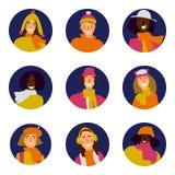 Комплект женщины зимы бесплатная иллюстрация