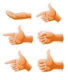 комплект жеста рукоятки Стоковая Фотография