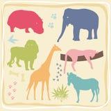 комплект животных покрашенный одичалый Стоковые Фото