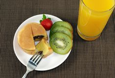 комплект завтрака стоковые изображения