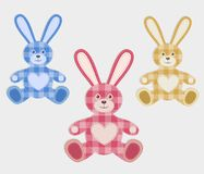 Комплект зайцев цвета Стоковые Фотографии RF