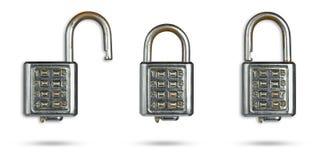 Комплект замка ключа старого пароля Стоковые Фотографии RF