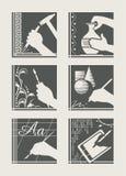 комплект занятия искусства Стоковое фото RF