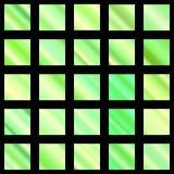 Комплект зеленого градиента Собрание градиента зеленого цвета вектор Стоковые Изображения