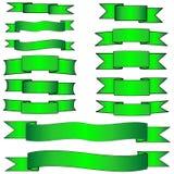 комплект зеленого цвета знамени Стоковое Изображение
