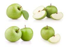 комплект зеленого цвета яблок Стоковые Фотографии RF