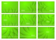 Комплект зеленой абстрактной предпосылки с космосом экземпляра для текста moder стоковое изображение rf