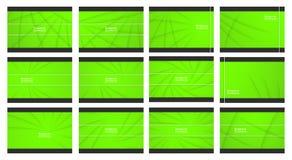 Комплект зеленой абстрактной предпосылки с космосом экземпляра для текста moder стоковые фотографии rf