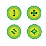 Комплект зеленых кнопок бесплатная иллюстрация