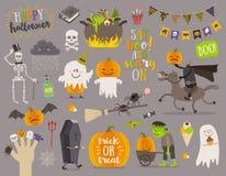 Комплект знака и символа хеллоуина, Стоковое Фото