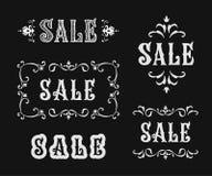 Комплект знака продажи вектора винтажный Стоковые Изображения RF