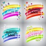Комплект знамени продажи Стоковые Фотографии RF