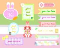 Комплект знамени текстового поля пасхи бесплатная иллюстрация