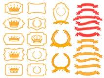 Комплект знамени Стоковые Изображения RF