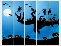 комплект знамени 5 halloween Стоковая Фотография RF