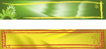 комплект знамени Стоковое Изображение