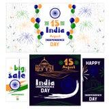 Комплект знамен на День независимости в Индии Стоковое фото RF