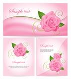 Комплект знамен с розами Стоковое Изображение