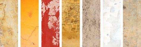 Комплект знамен с текстурами штукатурки стоковые изображения