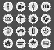 Комплект значка Англии иллюстрация вектора