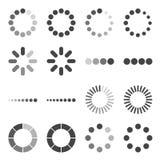 Комплект значка бара загрузки, символ вектора Стоковое Изображение RF