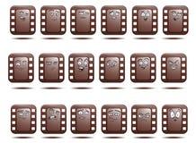 Комплект значка воплощения отрицательного фильма Стоковые Изображения