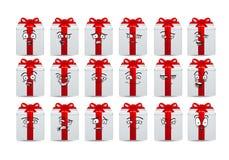 Комплект значка воплощения подарка Стоковое Изображение