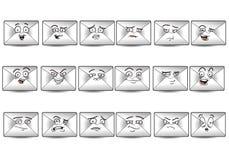 Комплект значка воплощения почты Стоковая Фотография