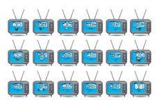 Комплект значка воплощения ТВ на изолированный Стоковое Изображение RF