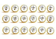 Комплект значка воплощения часов Стоковые Фотографии RF