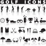 Комплект значка гольфа Стоковые Фотографии RF