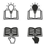 Комплект значка книги Стоковое Изображение