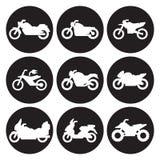 Комплект значка мотоциклов Стоковое Изображение RF