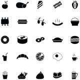 Комплект значка обеда иллюстрация вектора
