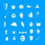 Комплект значка партии хеллоуина, простой стиль бесплатная иллюстрация