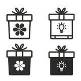 Комплект значка подарочной коробки Стоковые Фотографии RF