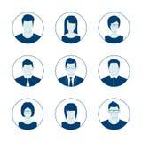 Комплект значка профиля воплощения значения по умолчанию Изображение потребителя человека и женщины Анонимное собрание изображени бесплатная иллюстрация