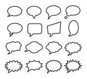 Комплект значка пузыря речи