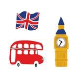 Комплект значка символов вектора великобританский иллюстрация вектора