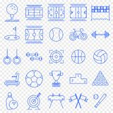 Комплект значка спорт 25 значков вектора пакуют иллюстрация вектора