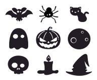 Комплект значка хеллоуина Стоковое Изображение RF