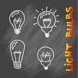 Комплект значка электрических лампочек концепция большой воодушевленности идей, innovati Стоковые Фотографии RF
