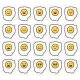 Комплект значка эмоций Стоковое Фото